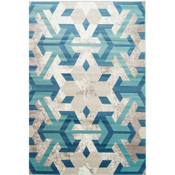 La Dole Rugs®  Irish Geometric Rectangular Area Rug - 5' x 8' - Blue