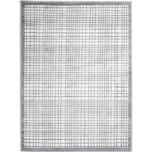 """Tapis géométrique carrés, 6' 2"""" x 9' 2"""", gris"""