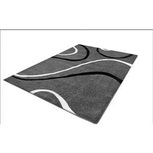 """Tapis spirale rectangulaire, 5' 2"""" x 7' 3"""", gris/noir"""