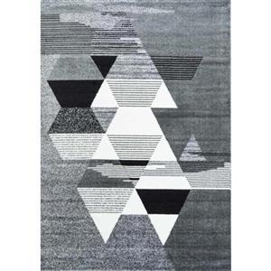 Tapis géométrique rectangulaire, 6' 2