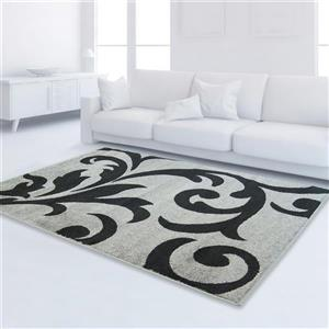 Tapis floral rectangulaire, 6' 2