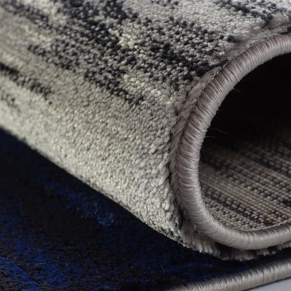 La Dole Rugs®  Copper Abstract European Area Rug - 4' x 6' - Black/Grey