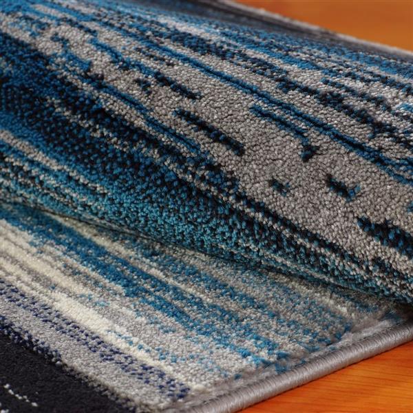 La Dole Rugs®  Copper Abstract European Area Rug - 3' x 5' - Black/Grey