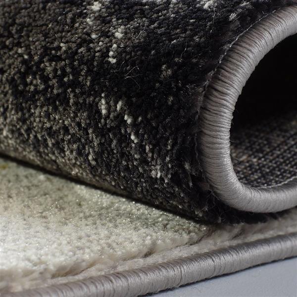 La Dole Rugs®  Geometric European Adonis Area Rug - 3' x 10' - Black/Grey