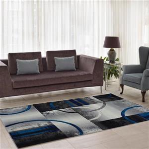 "La Dole Rugs®  European Adonis Geometric Rug - 2' x 3' 3"" - Grey/Black"