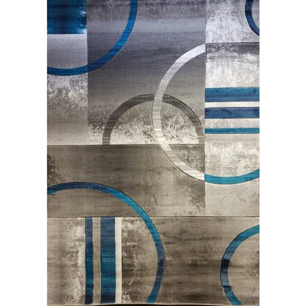"La Dole Rugs®  Geometric Adonis European Rug - 2' x 3' 3"" - Blue/Grey"