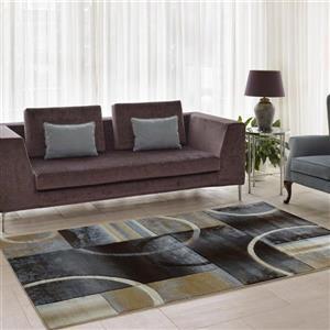 La Dole Rugs®  European Adonis Geometric Area Rug - 5' x 8' - Black/Grey