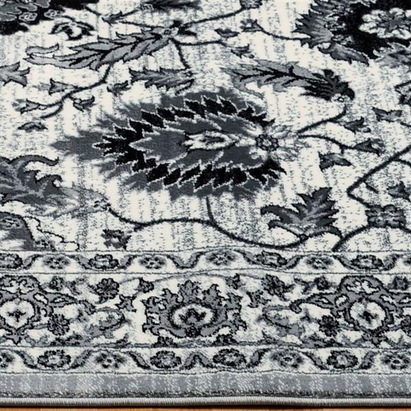 La Dole Rugs®  Floral Contemporary Rectangular Area Rug - 5' x 8' - Cream