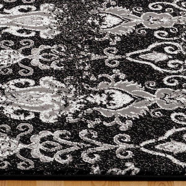 La Dole Rugs®  Geometric Contemporary Rectangular Rug - 4' x 6' - Black