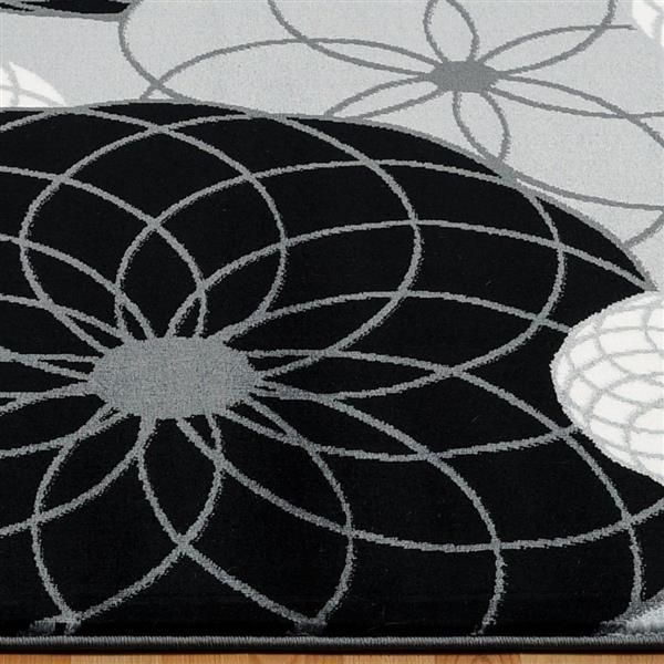 La Dole Rugs®  Geometric Contemporary Rectangular Rug - 5' x 8' - Grey