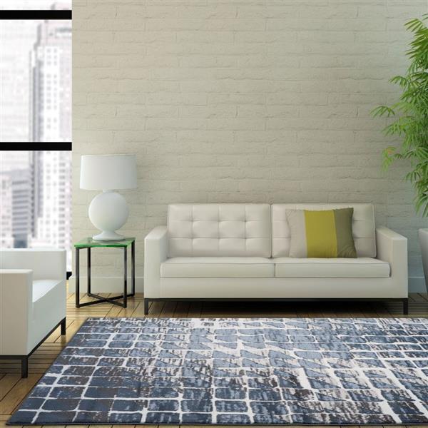 La Dole Rugs®  Geometric Contemporary Rectangular Rug - 5' x 8' - Cream
