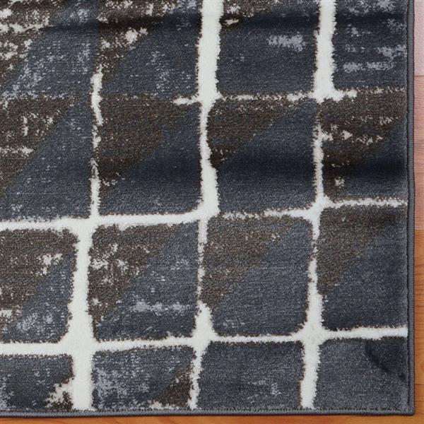 La Dole Rugs®  Geometric Contemporary Rug - 7' x 10' - Cream