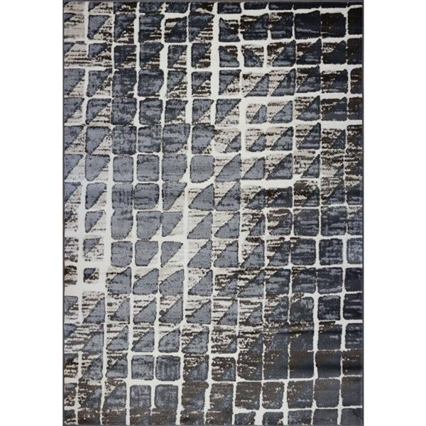 La Dole Rugs®  Geometric Contemporary Rectangular Rug - 4' x 6' - Cream