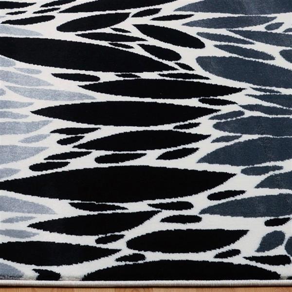 La Dole Rugs®  Geometric Contemporary Rectangular Rug - 5' x 8' - Black