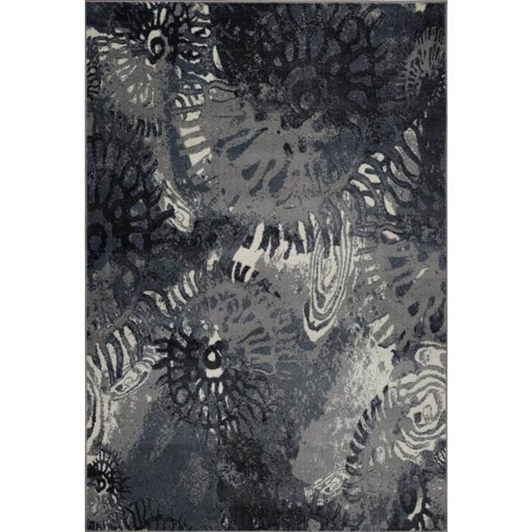La Dole Rugs®  Casa Loma Rectangular Turkish Rug - 8' x 11' - Grey/Cream