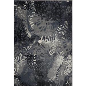 Tapis turque rectangulaire «Casa Loma», 8' x 11', gris/crème