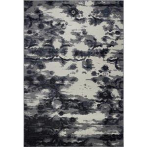Tapis turque rectangulaire «Oakridge», 7' x 10', gris/crème