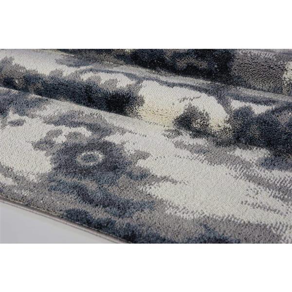 La Dole Rugs® Turkish Oakridge Rectangular Rug - 8' x 11' - Grey/Cream