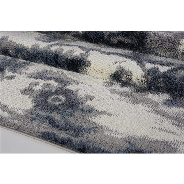 La Dole Rugs® Turkish Oakridge Rectangular Rug - 5' x 8' - Grey/Cream
