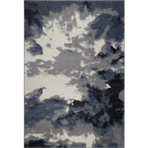 Tapis turque «Toronto Sky», 8' x 11', gris/ivoire