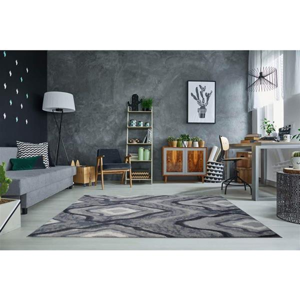 La Dole Rugs®  Etobicoke Turkish Rectangular Rug - 7' x 10' - Grey