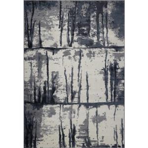 Tapis turque rectangulaire «Niagara», 8' x 11', gris/ivoire