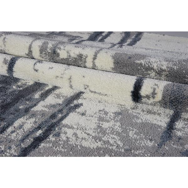 La Dole Rugs® Niagara Turkish Rectangular Area Rug - 4' x 6' - Grey/Ivory