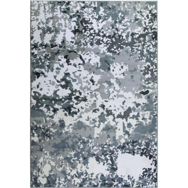 La Dole Rugs® Oshawa European Rectangular Rug - 7' x 10' - White/Grey