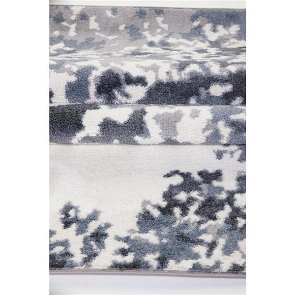 Tapis européen rectangulaire «Oshawa», 8' x 11', blanc/gris