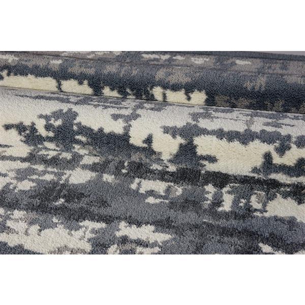 Tapis turque rectangulaire «Barrie», 4' x 6', gris/ivoire