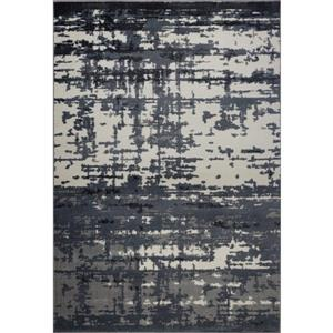 Tapis turque rectangulaire «Barrie», 4' x 6', gris/ivoire