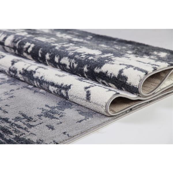 La Dole Rugs® Mississauga Turkish Rectangular Rug - 5' x 8' - Grey