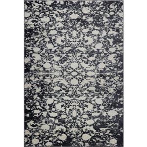 Tapis turque rectangulaire «Hamilton», 3' x 5', gris/ivoire