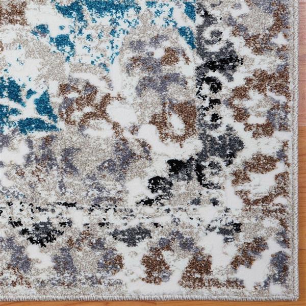 La Dole Rugs®  Grayton Abstract Contemporary Rug - 8' x 11' - Blue/Grey