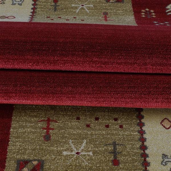 La Dole Rugs®  Guinea European Rectangular Area Rug - 4' x 6' - Cherry