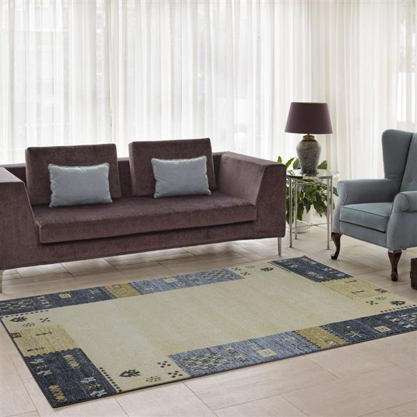 La Dole Rugs®  Guinea European Rectangular Area Rug - 4' x 6' - Grey/Cream