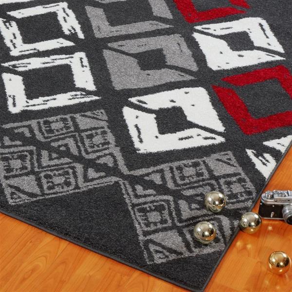 La Dole Rugs®  Diamond Geometric Innovative Area Rug - 3' x 5' - Grey
