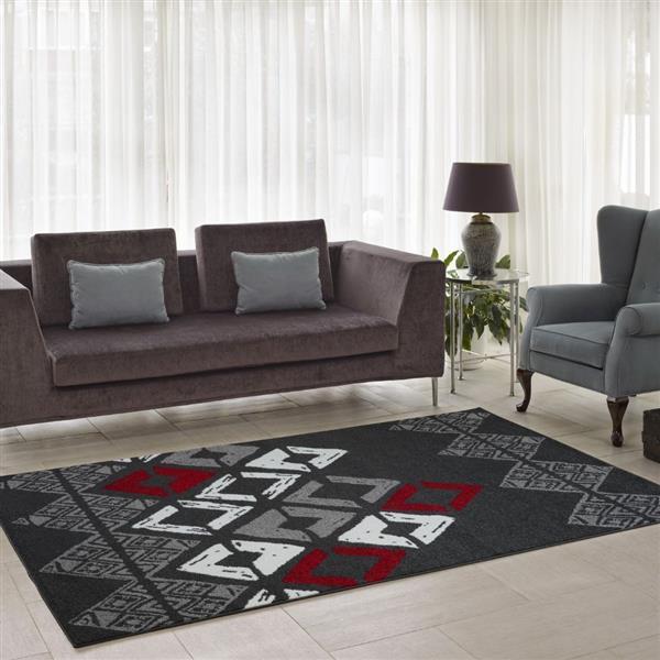La Dole Rugs®  Diamond Geometric Innovative Area Rug  - 3' x 10' - Grey