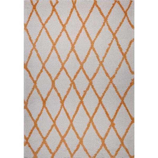 La Dole Rugs®  Geometric Trellis Rectangular Area Rug - 5' x 8' - Orange