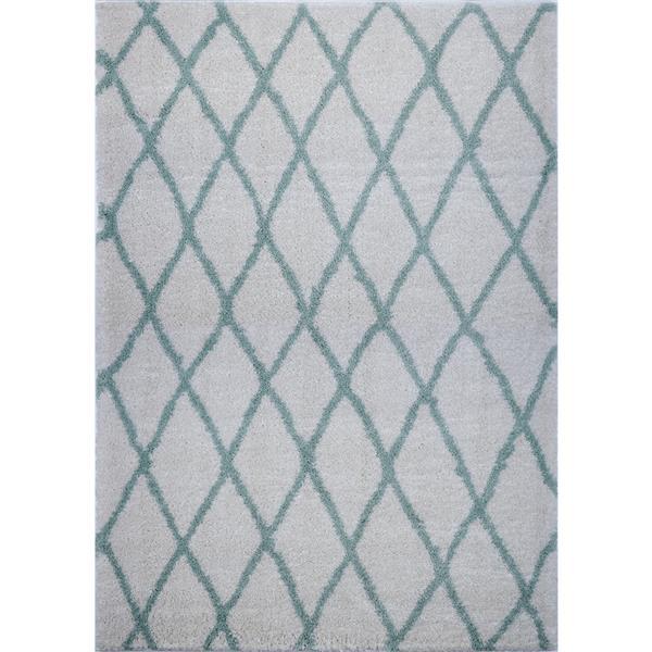 La Dole Rugs®  Geometric Trellis Area Rug - 8' x 11' -Ivory/Green