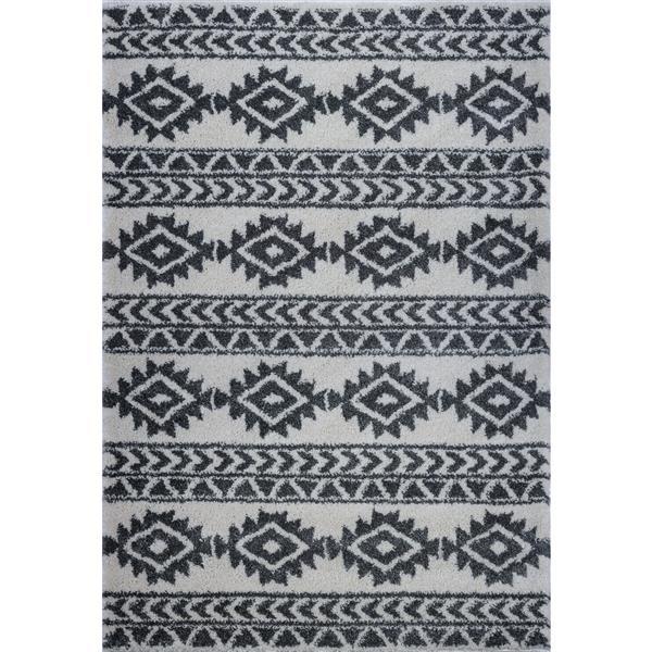La Dole Rugs®  Creative Simplicity Trellis Area Rug - 7' x 10' - Ivory/Grey