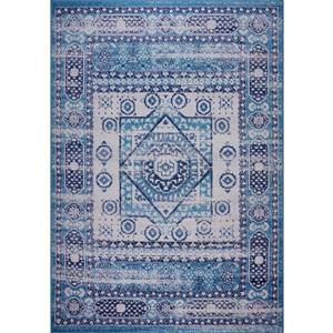 Tapis Zosia, 2,6' x 4,9', polypropylène, bleu