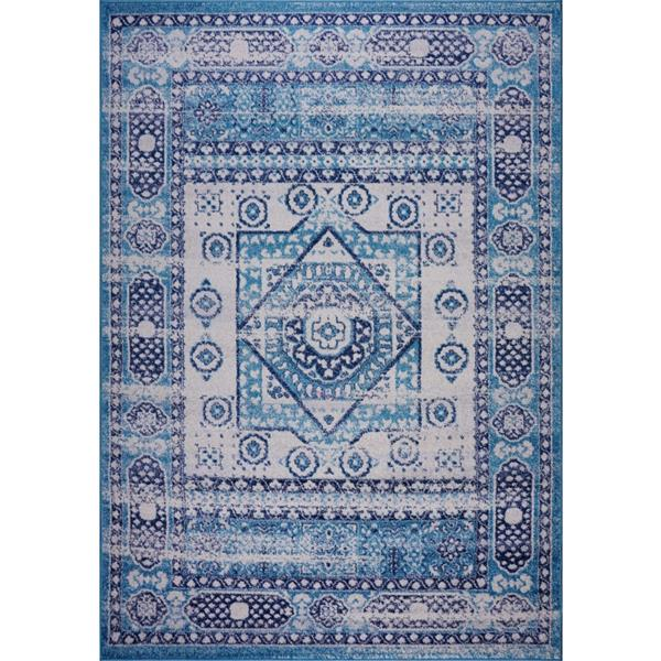 La Dole Rugs® Zosia Area Rug - 3.9' x 5.6' - Polypropylene - Blue