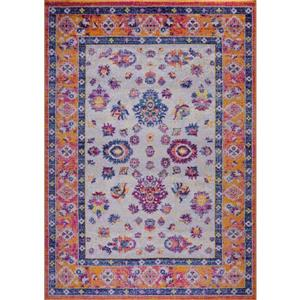 Tapis Topaz, 6,4' x 9,4', polypropylène, orange/rose