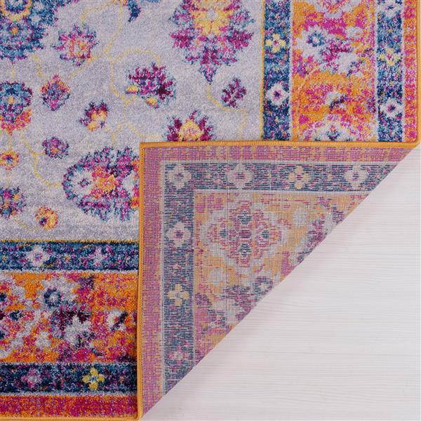 La Dole Rugs® Topaz Area Rug - 2.6' x 9.8' - Polypropylene - Orange/Pink