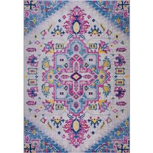 Tapis Shareen, 7,8' x 10,4', polypropylène, bleu/multi