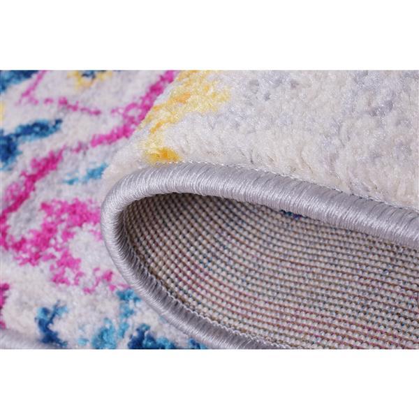 La Dole Rugs® Shareen Area Rug - 2.6' x 9.8' - Polypropylene - Blue/Multi