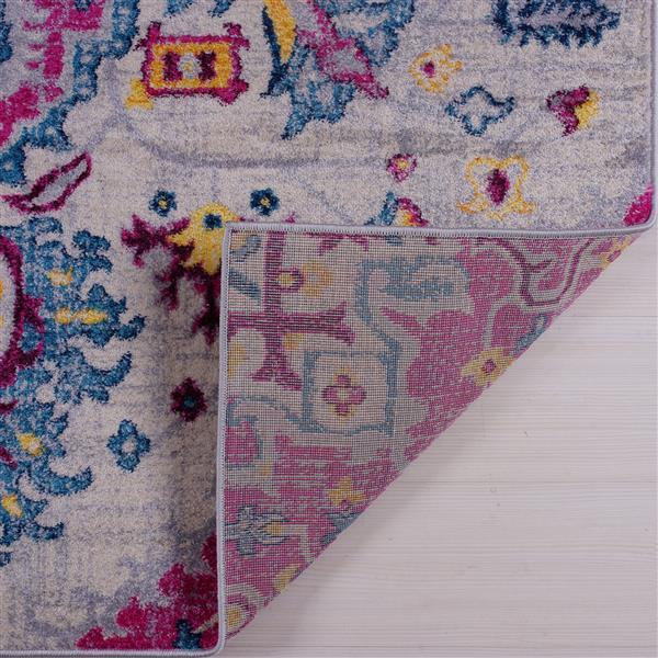 La Dole Rugs® Shareen Area Rug - 2.6' x 9.8' - Polypropylene - Pink/Multi