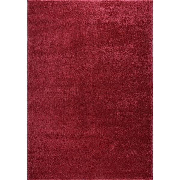 La Dole Rugs® Meknes Area Rug - 2.6' x 9.8' - Polypropylene - Rose/Red