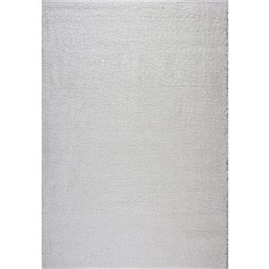 Tapis Meknes, 2,6' x 9,8', polypropylène, ivoire